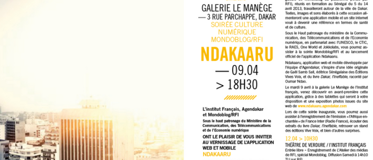 Article : Tandem Dakar – Paris : Lancement de l'application culturelle NDakaaru